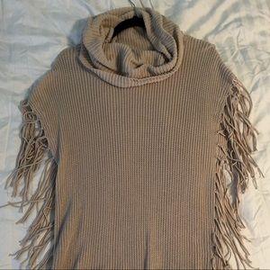 Acrobat - Tan Fringe Sweater - XS/S